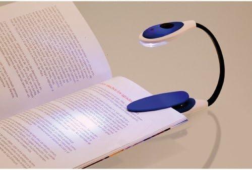 DISOK - Lampara Luz Lectura (Pilas Incluidas) Azul: Amazon.es: Hogar