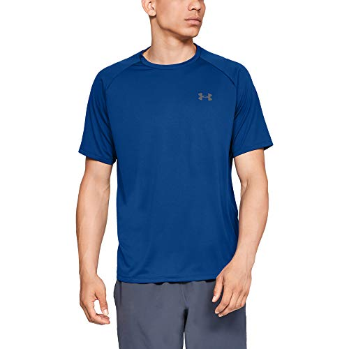 Best moisture wicking shirt - Under Armour Men's Tech 2.0 Short Sleeve T-Shirt, Royal (400)/Graphite, X-Large
