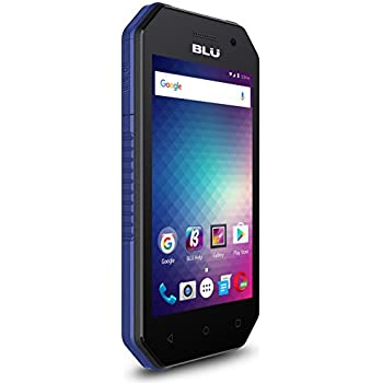 BLU Tank Xtreme 4.0 -Water and Shock Resistant Smartphone -US GSM Unlocked-Black/Blue