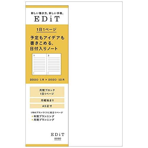 마크 수첩 2020 EDiT 하루 페이지 2020 년 1 월 시작 되는 A5 더하기 크기 리필 20WDR-ETC-RFL / Marks Notebook 2020 EDiT Page 1 January 2020 Start A5 Positive Refill 20WDR-ETC-RFL