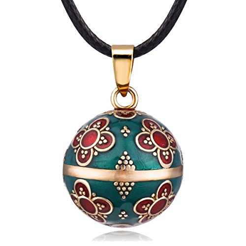 EUDORA Harmony Ball Vintage Necklace Angel Chime Bola Pendant, Long 30 + 45 inch for Pregnancy, Maternity