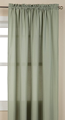 Lorraine Home Fashions Ribcord Tailored Window Curtain Panel, 55″ x 63″, Sage For Sale