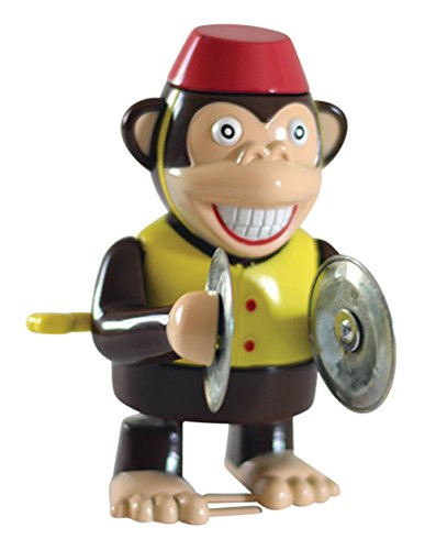Cymbal Playing Monkey (Wind Up Cymbal Monkey Toy - Windup Monkey Marching and Playing Cymbals - Toys for Toddlers Kids Children Boys Girls - Classic Wind-up Surprising Happy Clapping Monkey 4