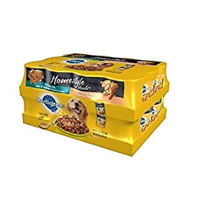 3 X Pedigree Homestyle Choice Cuts Wet Dog Food 24 ct. Variety Pack 13.2 oz