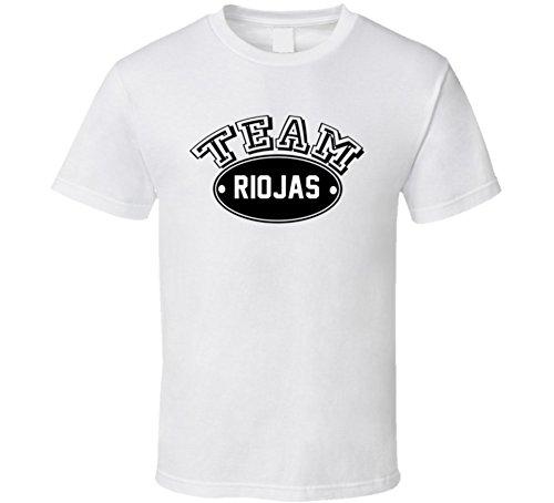 Team Riojas Family Reunion Last Name Sports T Shirt M White