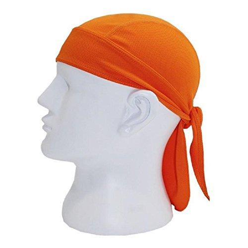 Neon Hunter Orange Blaze Micro Fiber Dry Fit Head Wrap Biker Hat Durag Skull Cap Stretch
