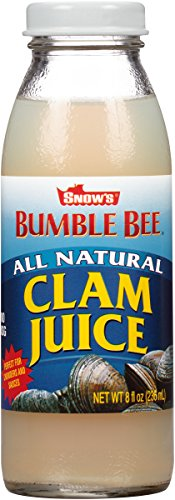 Clam Juice - SNOW'S BY BUMBLE BEE All Natural Clam Juice, 8 Ounce Bottle (Pack of 12), Pure Bottled Clam Juice