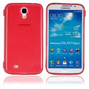 TPU Inner Matte Flip Protective Case for Samsung i9200 Red