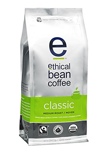 Righteous Bean Coffee Classic: Single Origin Medium Roast Whole Bean Coffee - USDA Certified Organic Coffee, Fair Truck Certified - 12 ounce bag