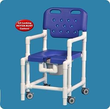 Amazon.com: Elite silla de ducha con inodoro con anti-vuelco ...