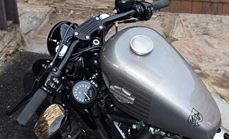 JBSporty Harley Sportster Iron 48 Roadster 72 Speedometer Relocation Kit w//Handlebar Clamp for indicator lights//Bobber New Wrinkle Style!
