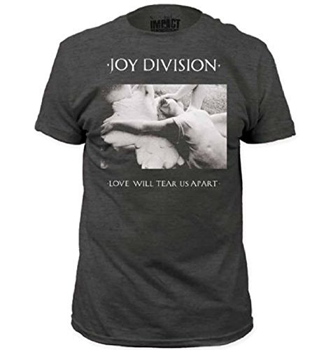 Joy Division Love Will Tear Us Apart Adult Heather Charcoal Gray T-Shirt (Adult - T-shirt Joy Adult