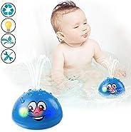 Bath Toys, Water Spray Toys for Kids Baby Bath Toys for Toddlers LED Light Up Bathtub Toys for Toddlers Sprink