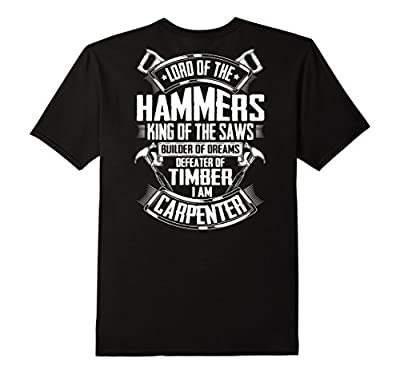 Carpenter Funny T-Shirt Wright Humor Lord of the Hammers