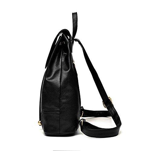 Toopot Bolso de cuero del morral de las señoras de las muchachas de las mujeres de la mochila del bolso de hombro de la manera AZUL REAL