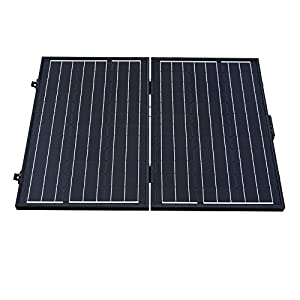 ECO-WORTHY 12 Volts 120 Watts Portable Folding Monocrystalline Solar Panel with Charge Controller