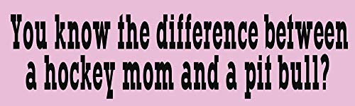 HZ Graphics Hockey Mom and a Pit Bull Sarah Palin Vinyl Decal Wall Laptop Car Bumper Sticker - Bumper Stickers Sarah Palin