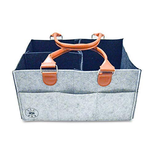 Diaper Caddy Organizer | Portable Nursery Organizer for Diapers and Swaddles | Changing Table Organizer | Car Organizer by Lil Bub Co.