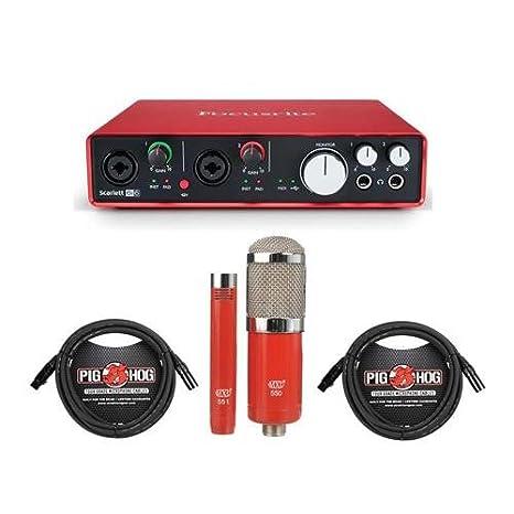Interfaz de audio USB Focusrite Scarlett 6i6 con MXL 550 ...
