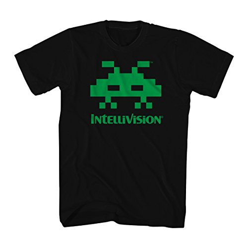Intellivision 1981 Video Game Space Armada Green Alien Adult T-Shirt Tee