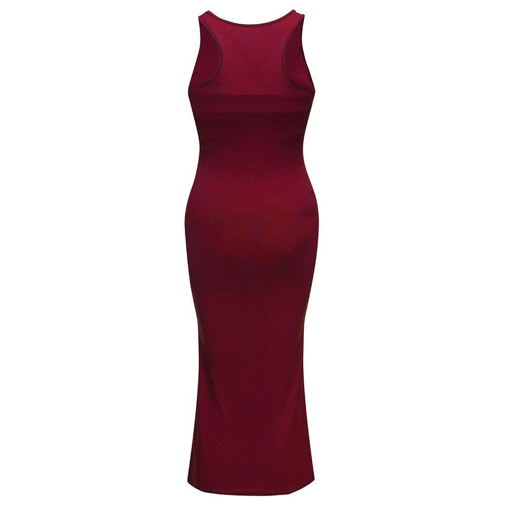57201ed6318ae EDTO Women Pregnant Slim Fit Dress, Maternity Breastfeeding Summer  Sleeveless Set at Amazon Women's Clothing store: