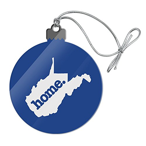 e State Solid Navy Blue Officially Licensed Acrylic Christmas Tree Holiday Ornament ()