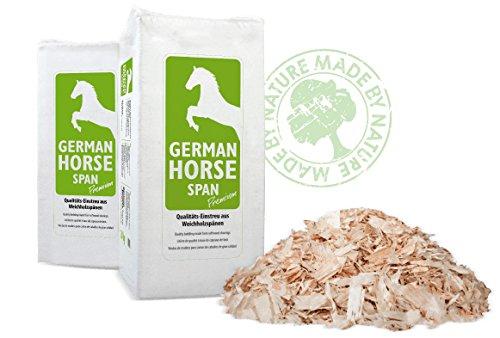 20kg 550L German Horse SPAN Premium (Späne grob) Einstreu Tiereinstreu Holzspäne Ökostreu für Pferde, Kleintiere und Katzen