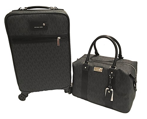 Michael Kors Trolley and Weekender Bag Luggage Set 2pcs (Black) by Michael Kors