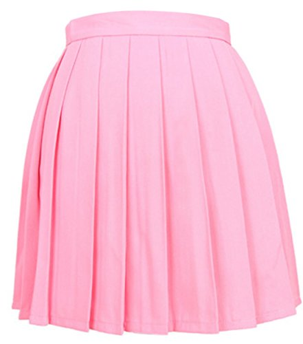 Soire Mini Haute Rose Jupe Unie Plisse Fashion Taille Femme t Jupes Gala de Cocktail Couleur Casual Party xqaw755
