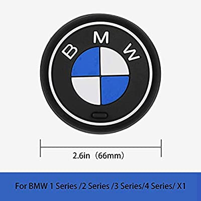 OSIRCAT 2PCS Car Logo Cup Holder Coaster for BMW Accessories,2.6 Inch Diameter Anti Slip Mat Auto Interior Pad: Automotive