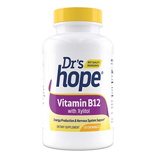 Dr's Hope | Vitamin B12 with Xylitol | Supports Healthy Energy Levels and Speeds Up Metabolism | 1000 mcg (120)