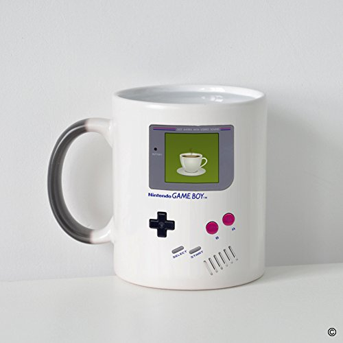 MsMr Custom Morphing Coffee Mug -Funny Mug - Quotes - Nintendo Gameboy Coffee Heat Changing Color Mug 11oz