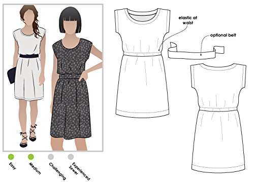Style Sewing Pattern (Style Arc Sewing Pattern - Olivia Dress (Sizes 04-16) - Click for Other Sizes)