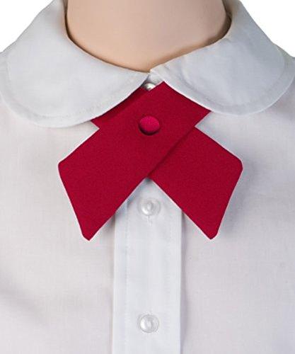 TopTie Criss-Cross Tie, Girls' School Uniform Cross Tie-Black by TOPTIE (Image #1)