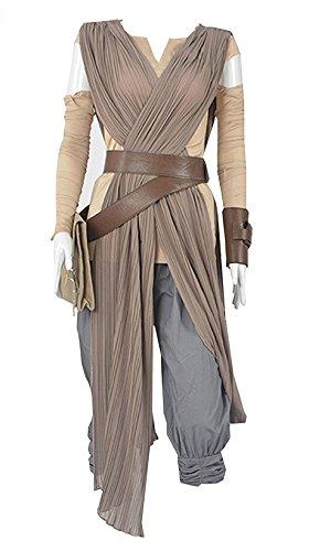 Fedex Costume Halloween (LYLAS Women's Deluxe Halloween Costume Rey Gray Full Sets (Female-XL))