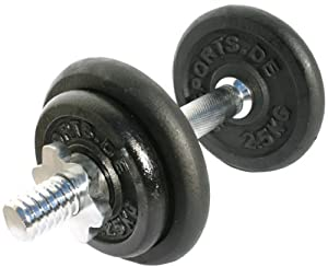 ScSPORTS Hantelset Guss Set 10 kg mit 1 x Kurzhantel 2 x 2,5 kg 2 x 1,25 kg...