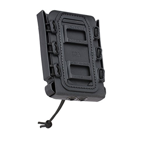 G-CODE Rifle Soft Shell Scorpion Mag Carrier (Black) with Belt Loop 100% Made in USA ()