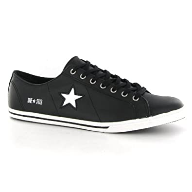 feb2a89167c Converse One Star Low Pro Black Leather Mens Trainers  Amazon.co.uk  Shoes    Bags