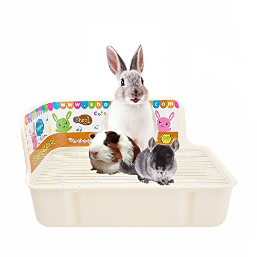 HongYH Pet Small Rat Toilet, Square Potty Trainer Corner Litter Bedding Box Pet Pan for Small Animal/rabbit/guinea Pig/galesaur/ferret (Set Hutch Rectangular)