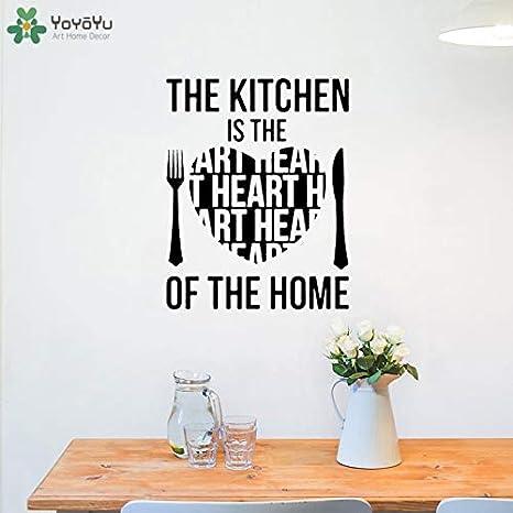 Sticker Mural Cuisine Est Le Coeur De La Maison Citation Sticker