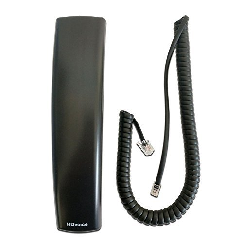 Polycom VVX HD Compatible Handset with Curly Cord 9ft