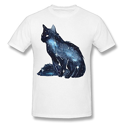 Men's T-Shirts Halloween Black Cat Art Short Sleeve T-Shirt O-Neck Cotton Summer Tees -