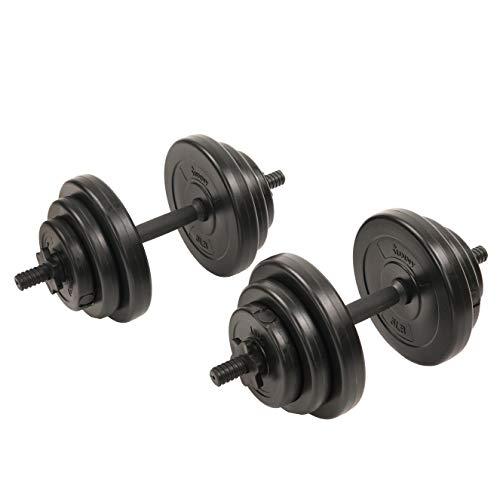 - Sunny Health & Fitness 40Lb Vinyl Dumbbell Set