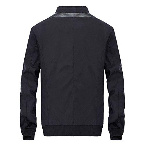 uomini uomini uomini collare giacca giacca giacca Gli uomo giacca uomo black giacca giacca casual trFwd8x1F