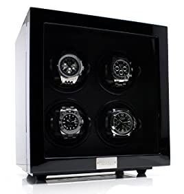 Heiden Vantage Quad Watch Winder with LCD - Black
