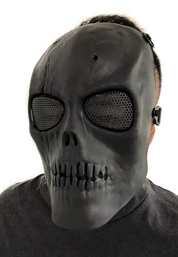 Masque de protection CS Masque de squelette crâne complet Airsoft Paintball de Airsoft Noir 6