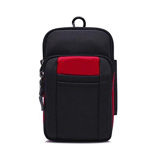 Paquete multifuncional para teléfono móvil de 6.5 pulgadas Mini bolso Monedero diagonal para hombro deportivo al aire libre Llevando un bolsillo para cinturón ( Color : B , Tamaño : Average code ) F