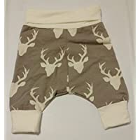 Woodland Deer Unisex Grow With Me Harem Pants Size 0-6 Months