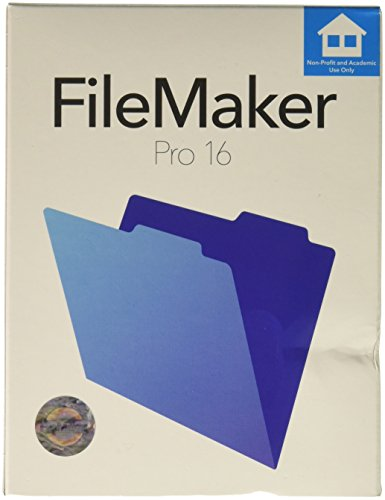 Software : FileMaker Pro 16 Education Mac/Win Retail Box V16