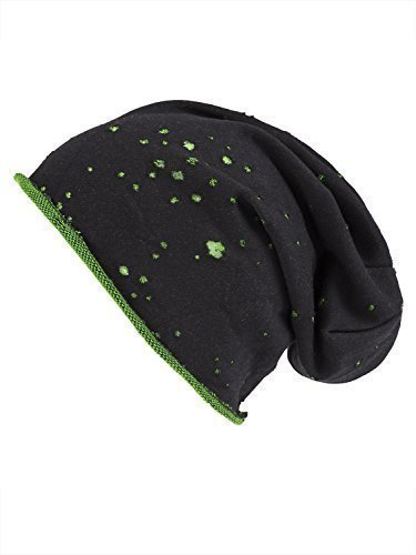 y Envejecido caído Gorro Shenky de punto verde Negro nwAfnx
